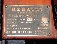 Renaoult Builders Plate